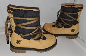 Timberland Fleece Lined Winter Boots Leather Wheat